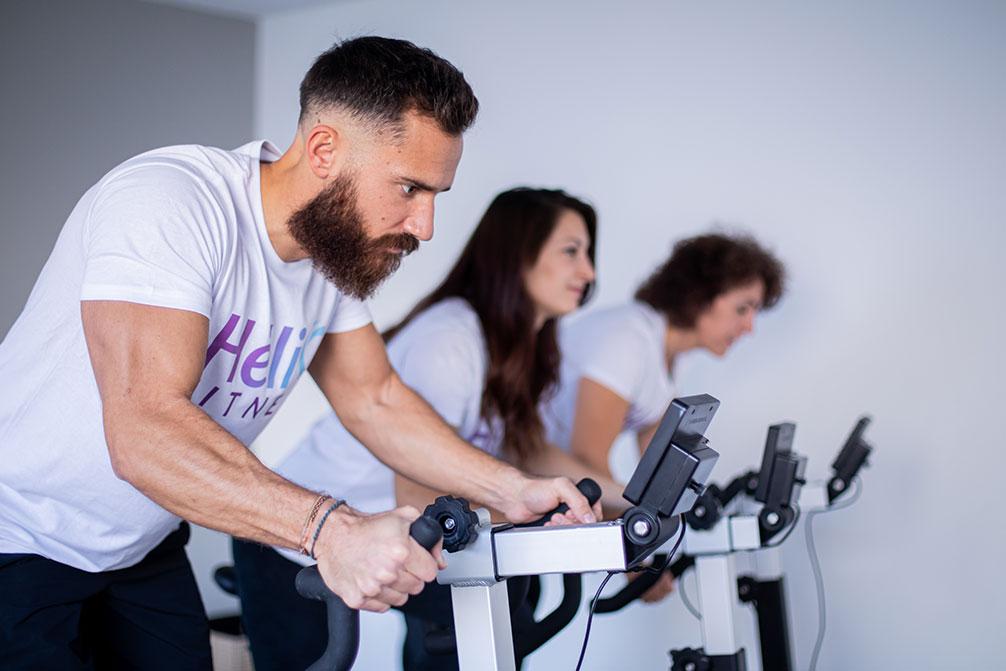 Cours de biking Hélio Fitness